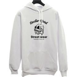 Moletom Canguru Personalizado Street Wear Nexstar - Branco found on Bargain Bro from Kanui for USD $74.45