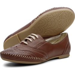 Sapato Casual Oxford Conforto em Couro Chocolate found on Bargain Bro Philippines from Kanui for $68.56