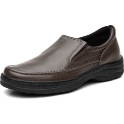 Sapato Social Confort Ortopédico em Couro Marrom found on Bargain Bro Philippines from Kanui for $73.46