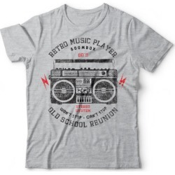 Camiseta Retro Music Player Cinza found on Bargain Bro from Kanui for USD $26.04