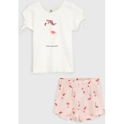 Conjunto 2pçs Hering Kids Curto Infantil Flamingo Off-White/Rosa found on Bargain Bro Philippines from Tricae for $31.85