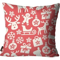 Almofada Mdecore Natal Trenó Vermelha 45x45cm found on Bargain Bro India from Tricae for $16.17