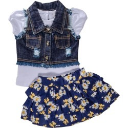 Conjunto 3 peças Colete Floral Azul Anjos Baby 3 Azul found on Bargain Bro Philippines from Tricae for $115.60