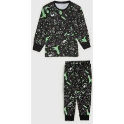 Pijama Fakini Longo Infantil Dinossauros Preto/Verde found on Bargain Bro Philippines from Tricae for $22.05