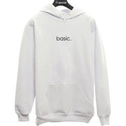 Moletom Canguru Unissex Basic Com Bolsos Branco found on Bargain Bro from Kanui for USD $134.03