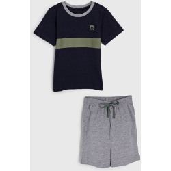 Pijama Tricae por Mr Kitsch Curto Infantil Confort Tal Pai Tal Filho Azul-Marinho/Cinza found on Bargain Bro Philippines from Tricae for $22.05