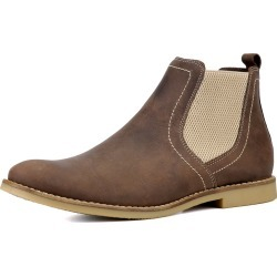 Bota Chelsea Masculina Mr Shoes em Couro Café found on Bargain Bro Philippines from Kanui for $137.16