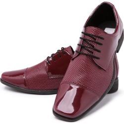 Sapato Social Cadarço Mr Shoes Verniz Vermelho found on Bargain Bro Philippines from Kanui for $44.06
