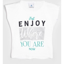 Blusa Malwee Liberta Infantil Lettering Branca found on Bargain Bro Philippines from Tricae for $12.25