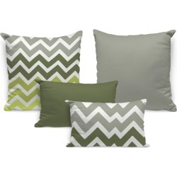 Kit 4 Almofadas Premium Green Abstract Único Love Decor found on Bargain Bro Philippines from Tricae for $86.20