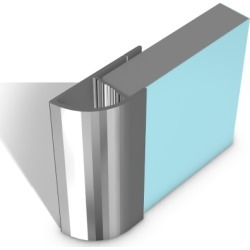 Multipanel Classic Type E - Quadrant End Cap Profile Bright Polished - 257281 found on Bargain Bro UK from City Plumbing