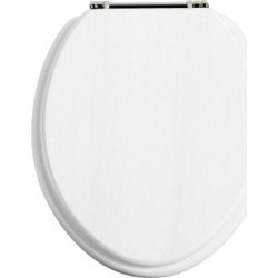 Toilet Seat Chrome Hinge White Ash - 405311 found on Bargain Bro UK from City Plumbing