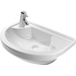 Vitra S50 55cm Compact Semi Recessed Basin Round Left Hand - 216981 found on Bargain Bro UK from City Plumbing
