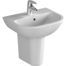 Vitra S20 Basin 600 x 460 mm 1 Tap Hole 5503L003-0999 - 217016 found on Bargain Bro UK from City Plumbing