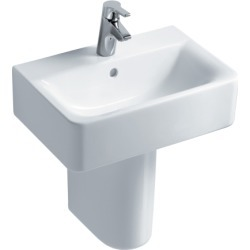 Ideal Standard Concept Cube Short Projection 1 Tap Hole Washbasin with Overflow White 550mm - 715986 found on Bargain Bro UK from City Plumbing