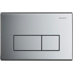 Geberit Flush Plate KAPPA50 For Dual Flush: Gloss Chrome-plated - 495499 found on Bargain Bro UK from City Plumbing