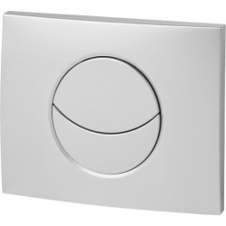 Wirquin 50718580 Pro Moon Matt Chrome Dual Flush Cistern Push Plate - 522880 found on Bargain Bro UK from City Plumbing