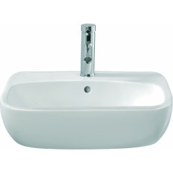 Twyford Moda Semi Recessed Basin 550 x 445 mm 1 Tap Hole MD4621WH - 219621 found on Bargain Bro UK from City Plumbing