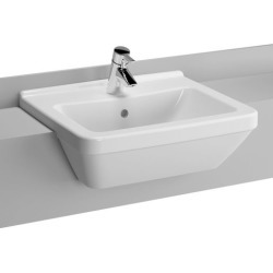 Vitra S50 Square Basin 550 x 550 mm 1 Tap Hole 5309L003-0999 - 732277 found on Bargain Bro UK from City Plumbing