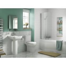 iflo Rhea Toilet, Basin & Pedestal Pack - 100660 found on Bargain Bro UK from City Plumbing