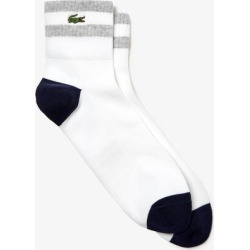MEN'S BICOLOUR STRIPED COTTON BLEND LOW-CUT SOCKS found on MODAPINS from Lacoste Canada for USD $16.39