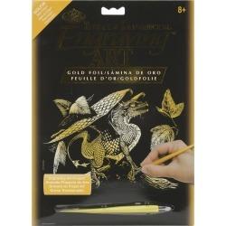 """Foil Engraving Art Kits 8""""x10"""" - Baby Dragon"""