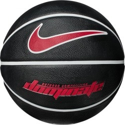 Nike Dominate Outdoor Basketball - Size 7 - Black/White/University Red