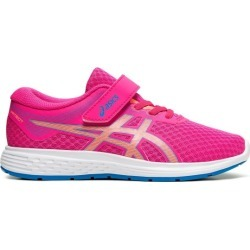 Asics Patriot 11 PS - Kids Girls Running Shoes - Pink Glo/Sun Coral