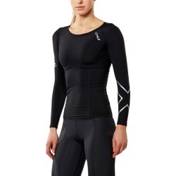 2XU Womens Thermal Compression Long Sleeve Top - Black/Silver found on MODAPINS from SlashSport for USD $101.34