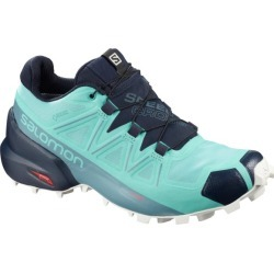 Salomon Speedcross 5 GTX - Womens Trail Running Shoes - Meadowbrook/Navy Blazer/White Sand
