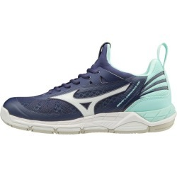 Mizuno Wave Luminous - Womens Netball Shoes - Astral Aura/White/Blue Light found on MODAPINS from SlashSport for USD $108.82
