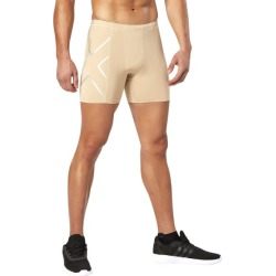 2XU Compression Mens Half Shorts - Beige/Silver found on MODAPINS from SlashSport for USD $53.21