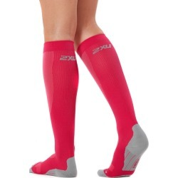 2XU Womens Compression Run Socks - Hot Pink/Grey found on MODAPINS from SlashSport for USD $28.11