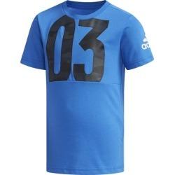 Adidas Little Kids Boys Cotton T-Shirt - Blue