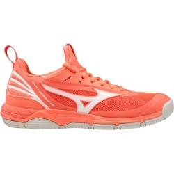 Mizuno Wave Luminous - Womens Netball Shoes - Living Coral/Snow White found on MODAPINS from SlashSport for USD $108.82