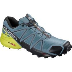 Salomon Speedcross 4 - Mens Trail Running Shoes - Bluestone/Black/Sulphur Spring