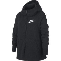 Nike Sportswear Full Zip Kids Girls Hoodie - Black