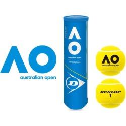 Dunlop Australian Open Hardcourt Official Ball - 4 Ball Can