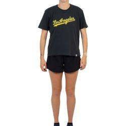Majestic Athletic Los Angeles Dodgers OD Wordmark Boxy Womens Baseball T-Shirt - Raven found on Bargain Bro India from SlashSport for $41.89