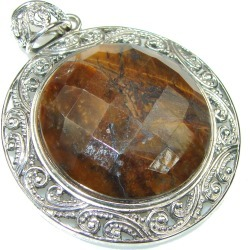 Bali Secret!  Brown Tigers Eye Sterling Silver Pendant found on Bargain Bro India from silverrushstyle.com for $52.15
