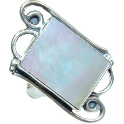 Blister Pearl .925 Sterling Silver handmade ring size 8