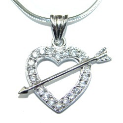 White Topaz .925 Sterling Silver necklace