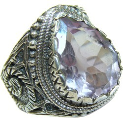Spectacular Amethyst .925 Sterling Silver  handcrafted Ring size 7
