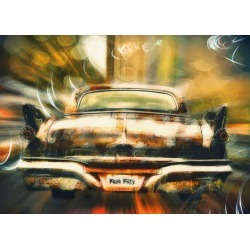 Photo art creation of vintage car in motion found on Bargain Bro India from displate for $44.00