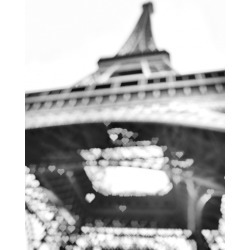 Black and white photograph of the Eiffel Tower in paris deigned with h found on Bargain Bro India from displate for $49.00