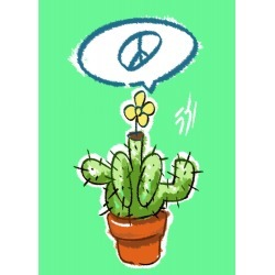 funny cactus found on Bargain Bro India from displate for $47.00