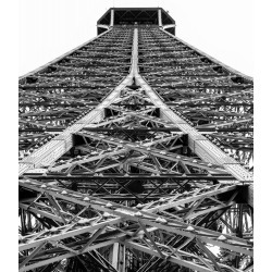 Black and white photograph of the Eiffel Tower in paris found on Bargain Bro India from displate for $50.00
