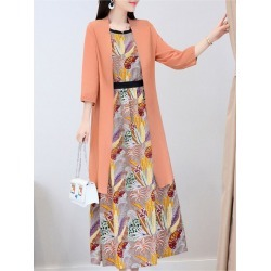 Women's Maxi Long Dress Slim Sleeveless Floral Dress Sun Proof Coat found on MODAPINS from Zilingo AU for USD $43.37