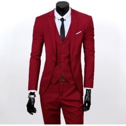 Korean Men Slim Fit Business Formal Suits found on MODAPINS from Zilingo AU for USD $57.79