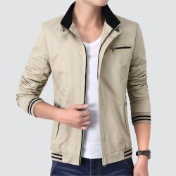 Plus Size Casual Jacket For Men's Simple Erect Collar Thin Section Business Youth Winter Coat found on MODAPINS from Zilingo AU for USD $47.78